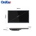 ONKAR Car Center Screen 11.6 Inch Android 10 Headrest Monitor 4K Screen Video HDMI IN/ Out Screen Mirror FM Bluetooth SD USB preview-3