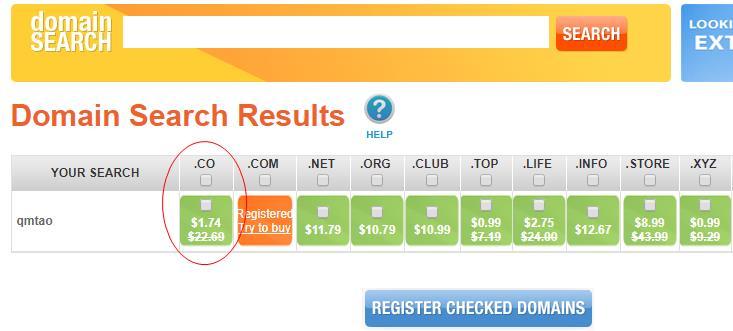 Namesilo: 限时专属优惠、.co域名 一年$0.74、5年 $7.7、送whois保护
